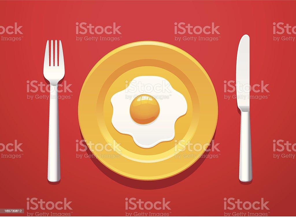 Sunny breakfast vector art illustration