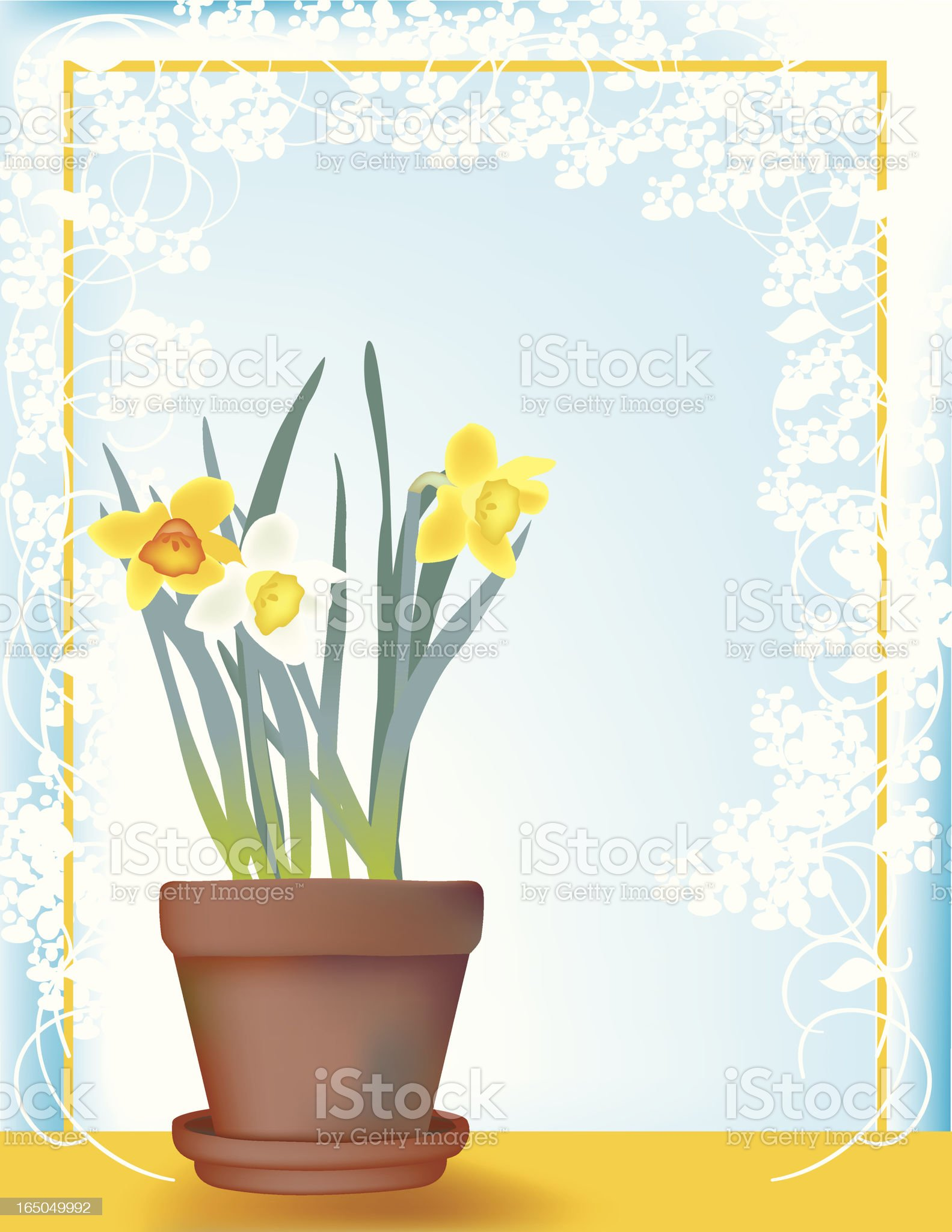 Sunny daffodils royalty-free stock vector art