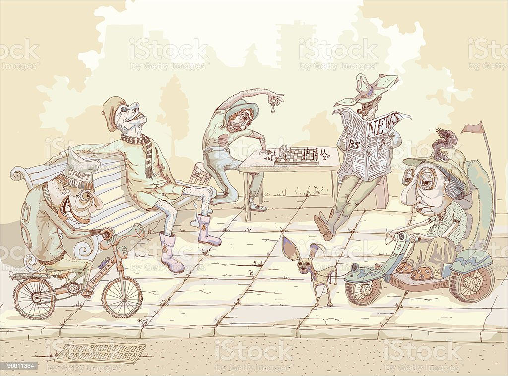 Sunny Day vector art illustration
