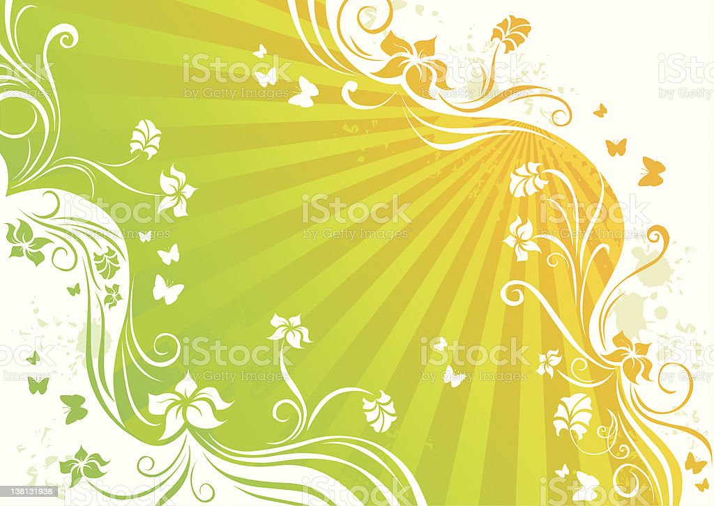 Sunny floral background royalty-free stock vector art