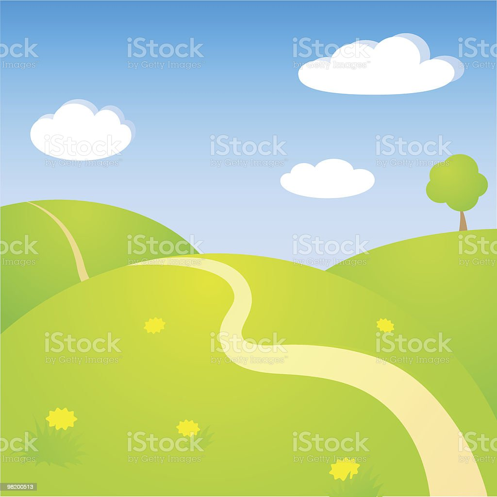 Sunny landscape royalty-free stock vector art