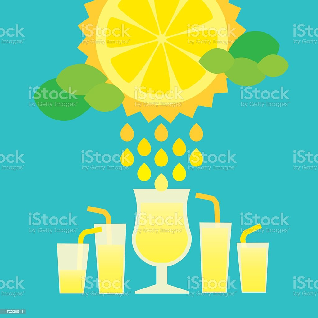 Sunny lemon vector art illustration