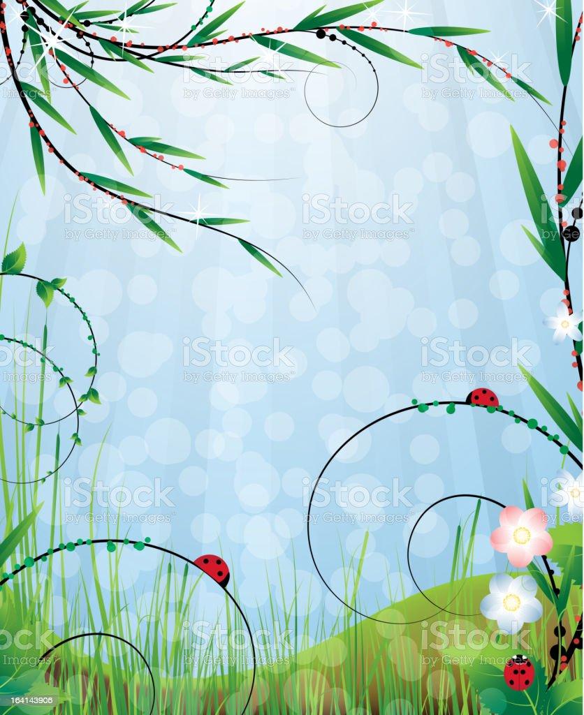 Sunny meadow royalty-free stock vector art