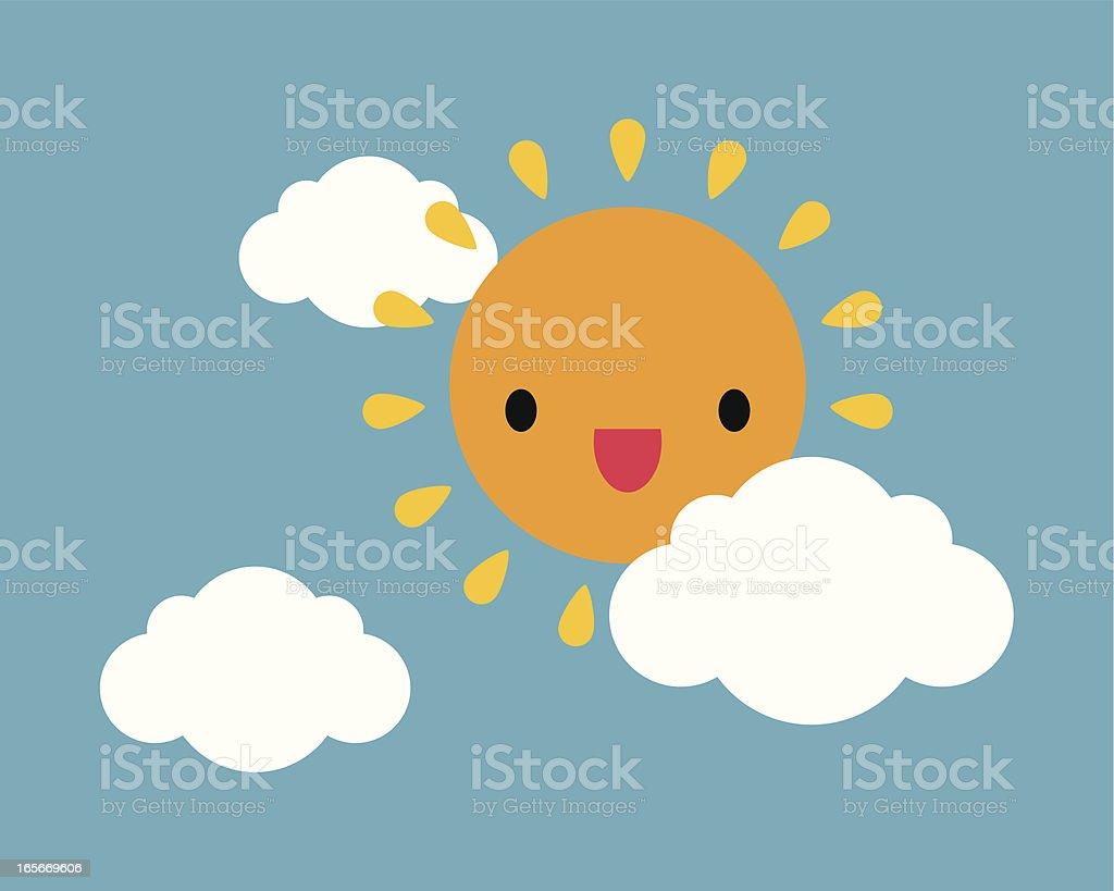 Sunny Sky royalty-free stock vector art