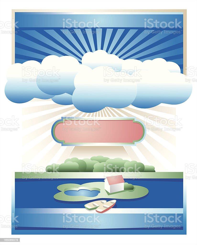 Sunny small island royalty-free stock vector art