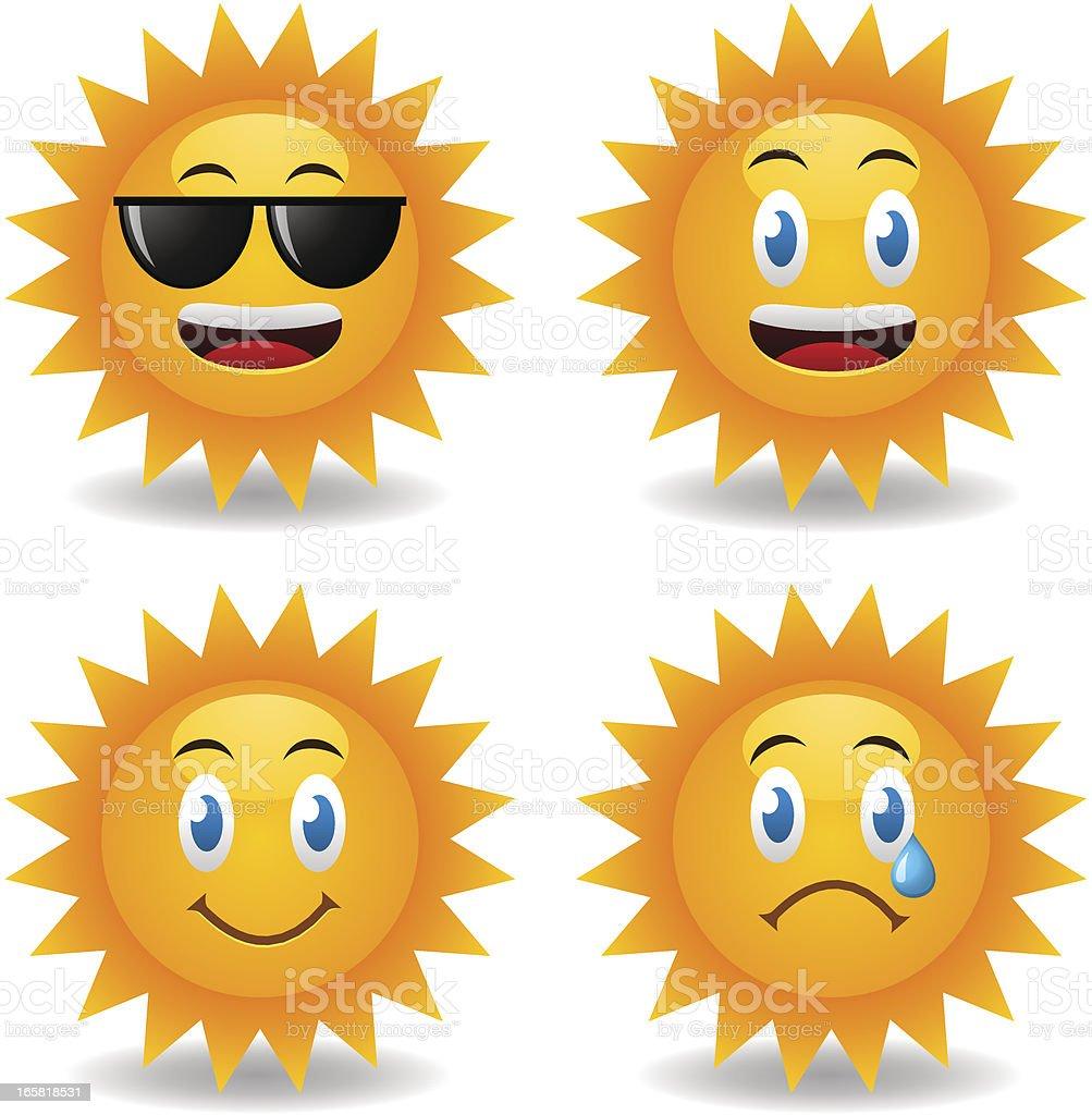 Sunny Smileys royalty-free stock vector art