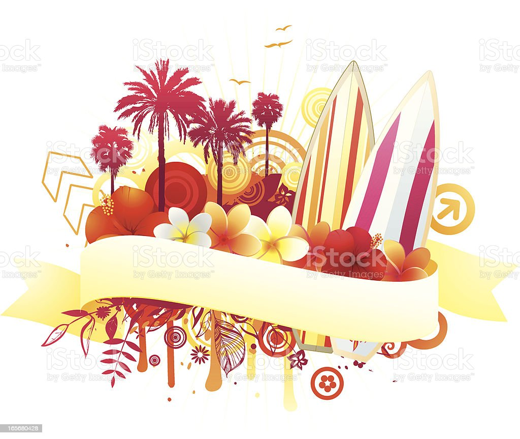 Sunny surf design royalty-free stock vector art