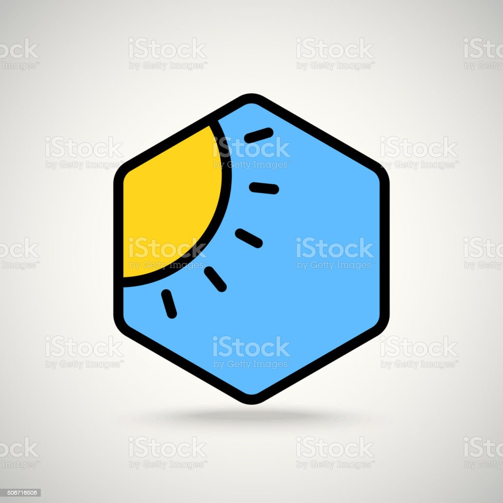 Sunny weather. Appication or web interface icon vector art illustration