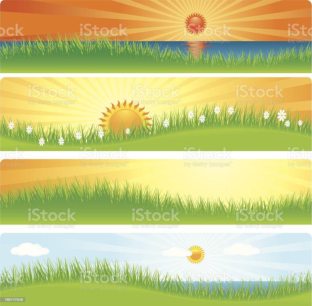 Sunrise Banner royalty-free stock vector art