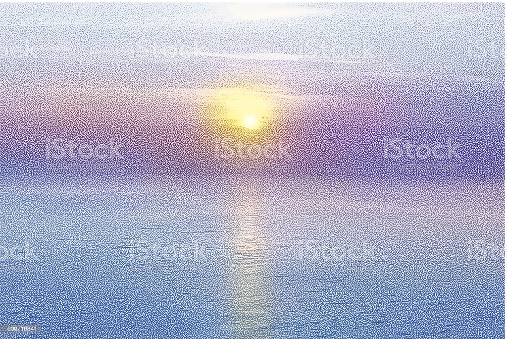 Sunrise Over Water royalty-free stock vector art