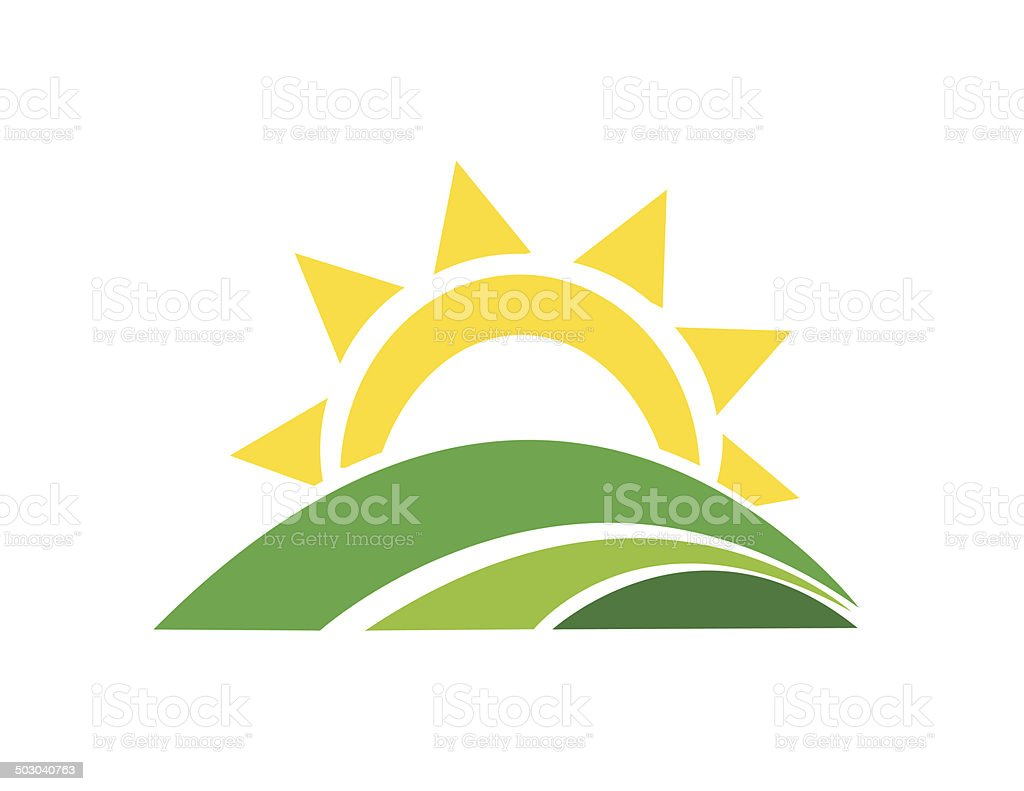 sunrise sun vector art illustration