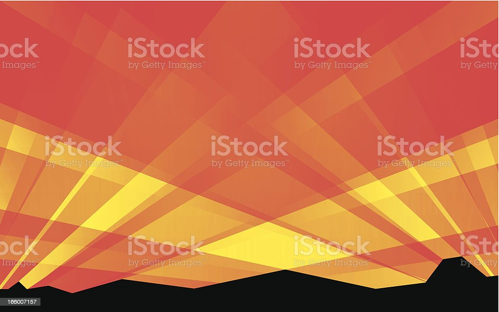 Sunrise royalty-free stock vector art