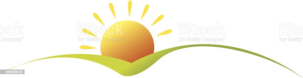 sunrise vector art illustration