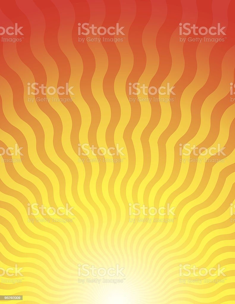 Sunrise Waves vector art illustration
