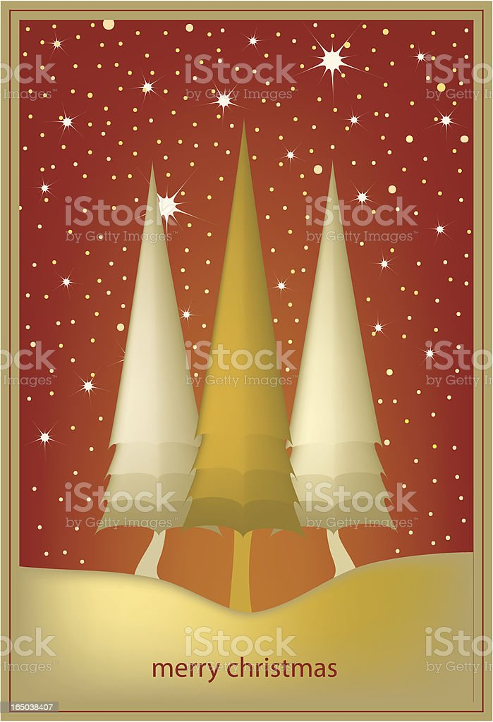 Sunrise Xmas tree royalty-free stock vector art