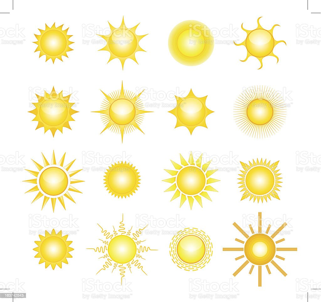 Suns royalty-free stock vector art