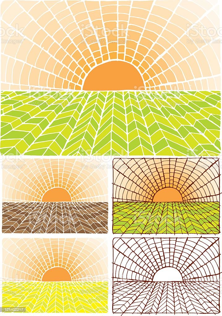 Sunset background royalty-free stock vector art