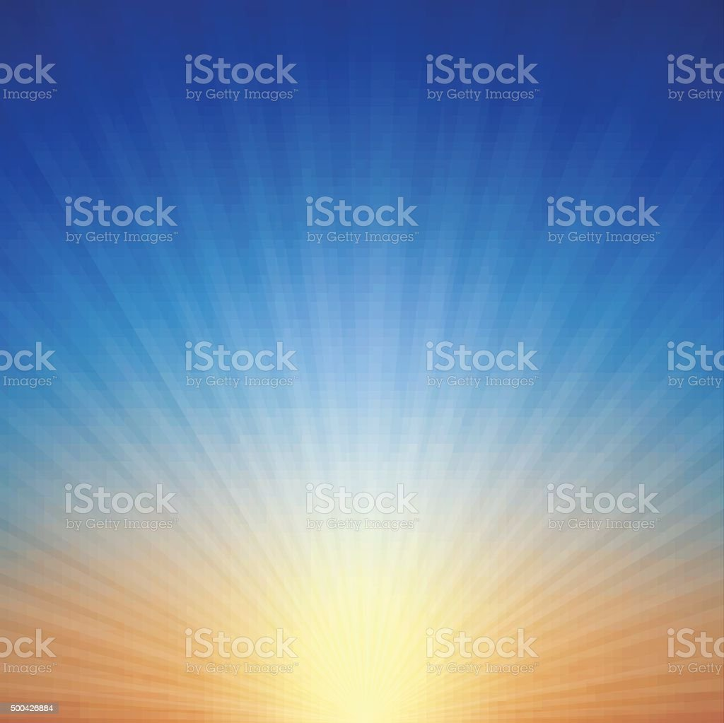 Sunset Background vector art illustration
