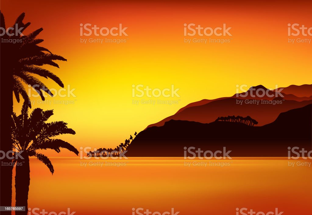 sunset backround royalty-free stock vector art