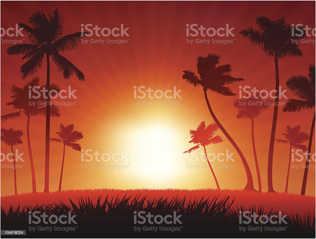 Sunset Internet Background royalty-free stock vector art