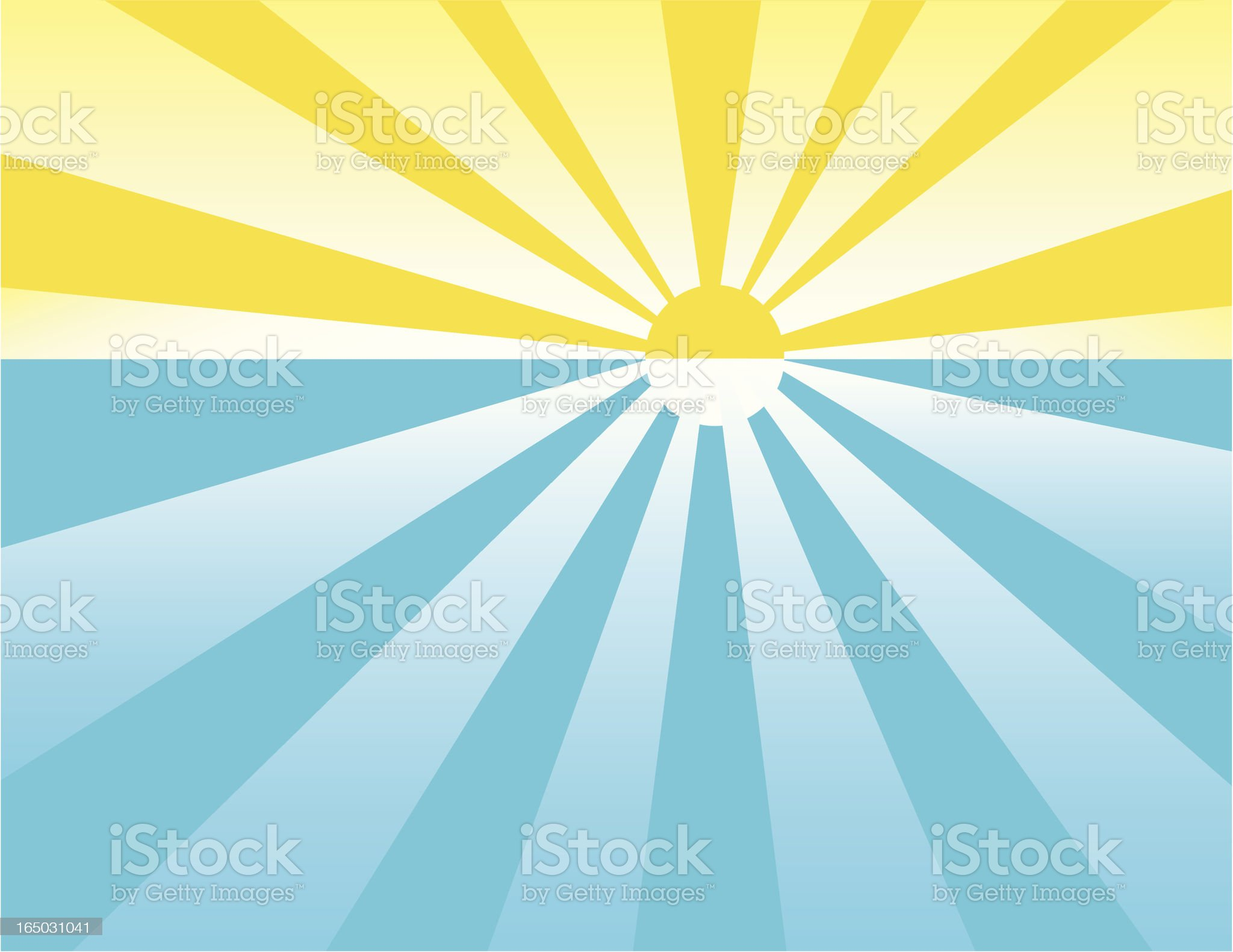 sunset over water royalty-free stock vector art