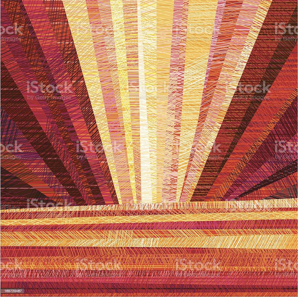 Sunset Sky vector art illustration