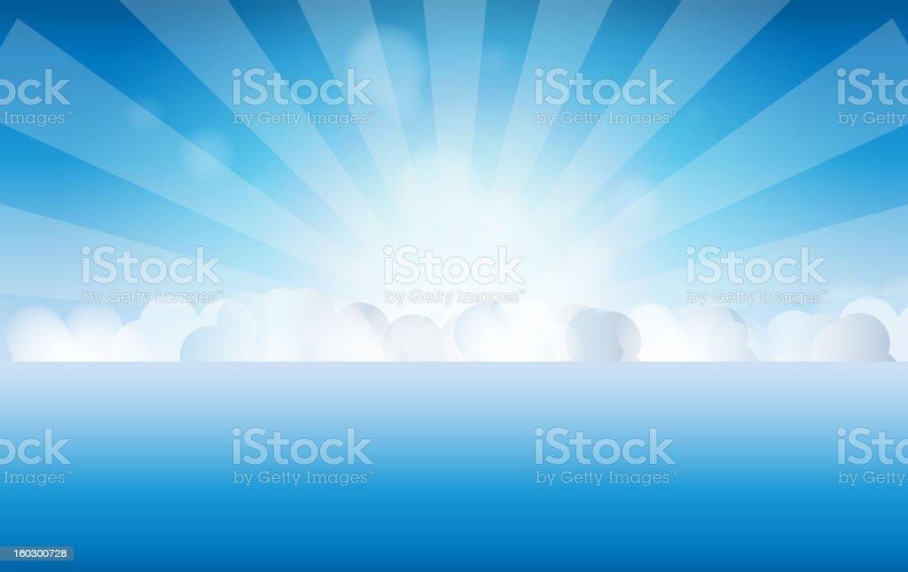 sunset sky, water vector illustration royalty-free stock vector art