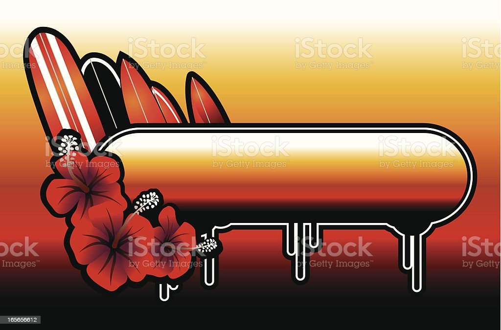 sunset surf shiny banner royalty-free stock vector art