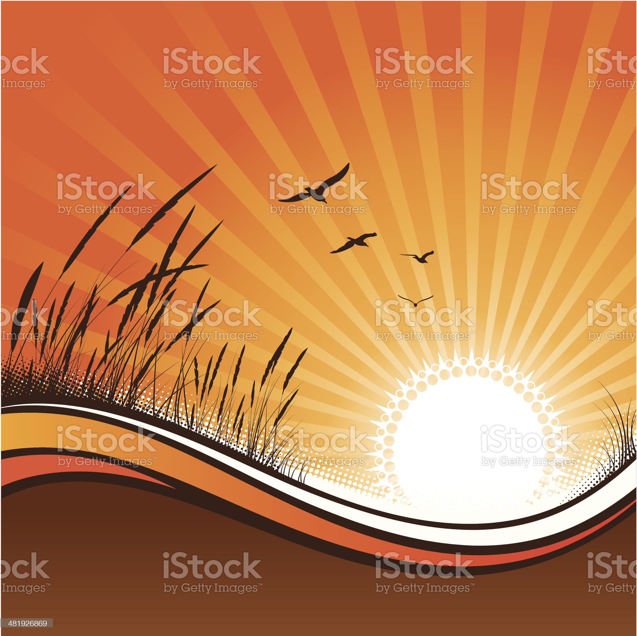 Sunset royalty-free stock vector art