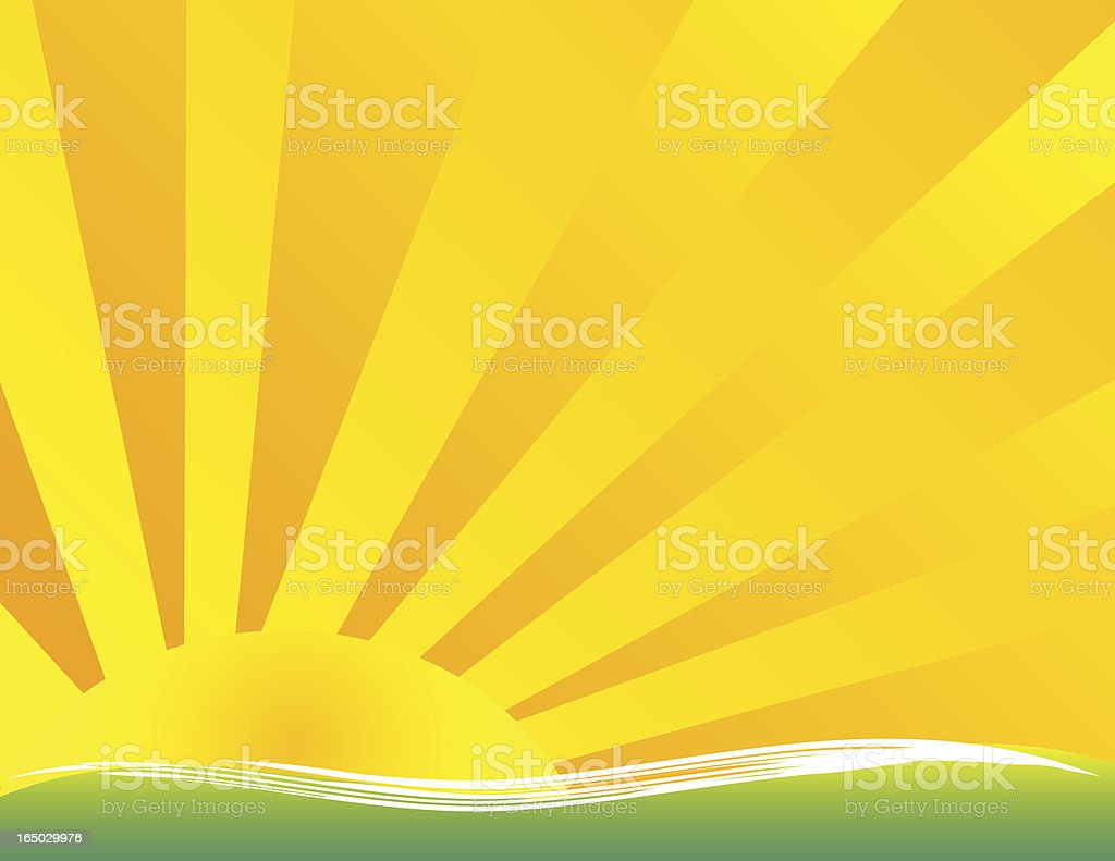 Sunset - Vector royalty-free stock vector art
