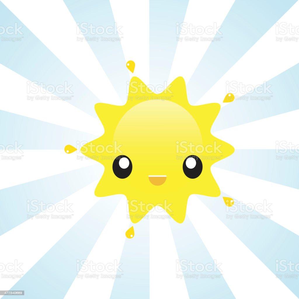 Sunshine Character royalty-free stock vector art