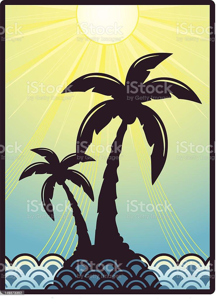 Sunshine Island royalty-free stock vector art