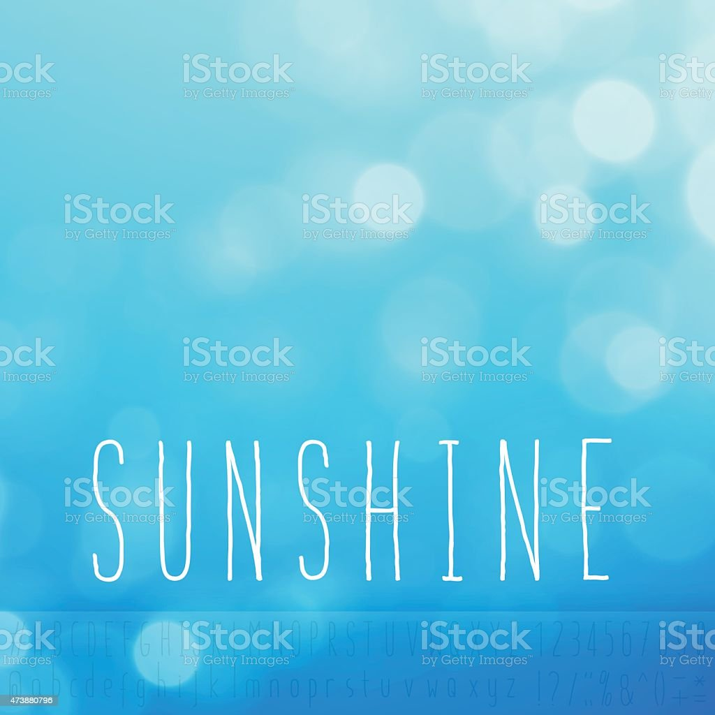 Sunshine Stock Vector Background Word Blue Sky Text Alphabet vector art illustration