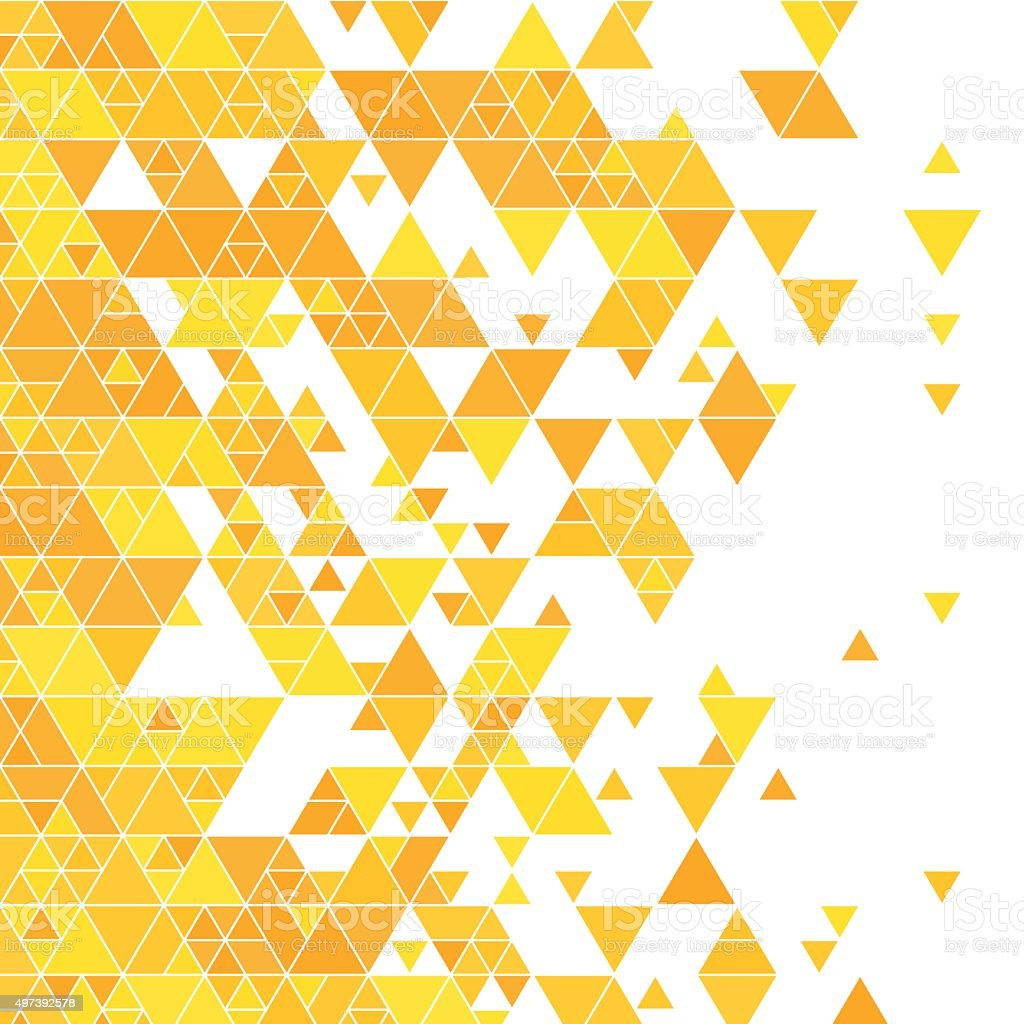Sunshine Triangle Design Background Square vector art illustration