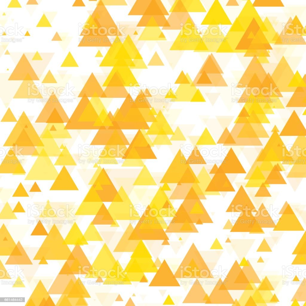 Sunshine Triangle Geometric Graphic Pattern vector art illustration