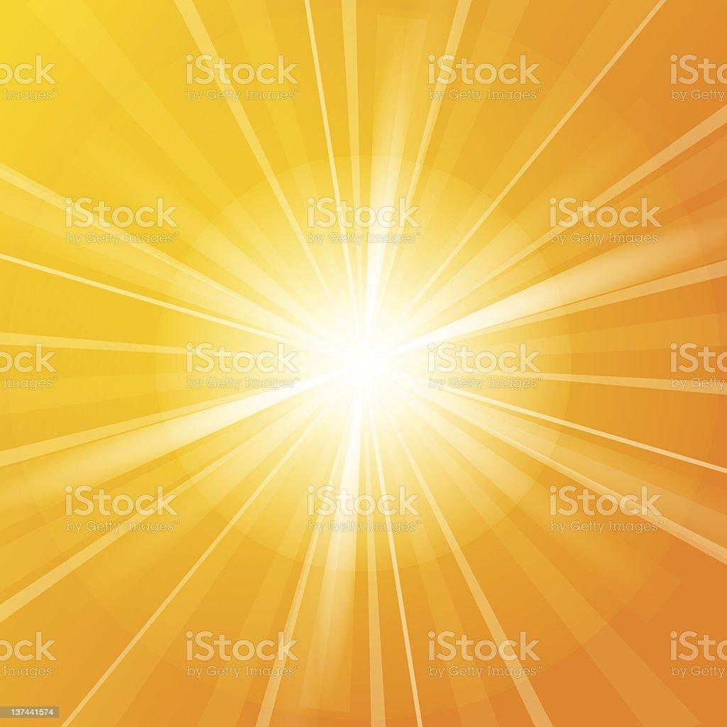Sunshine vector background vector art illustration
