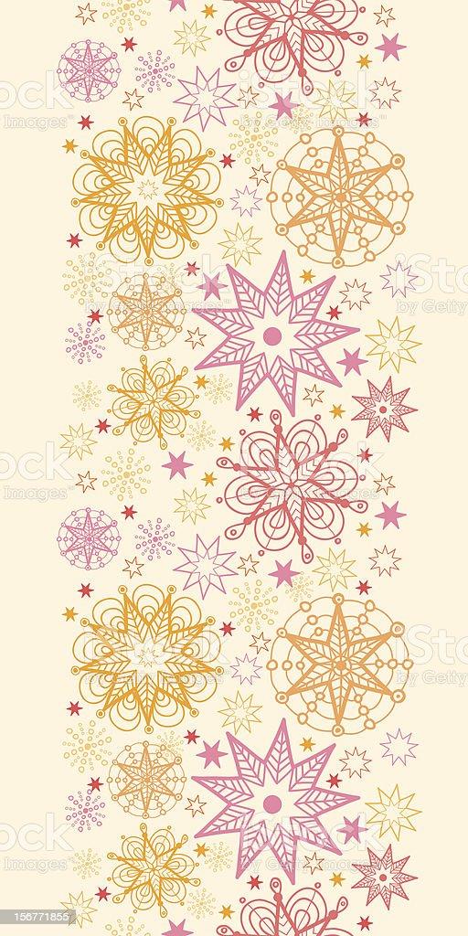Sunshine Vertical Seamless Ornament royalty-free stock vector art