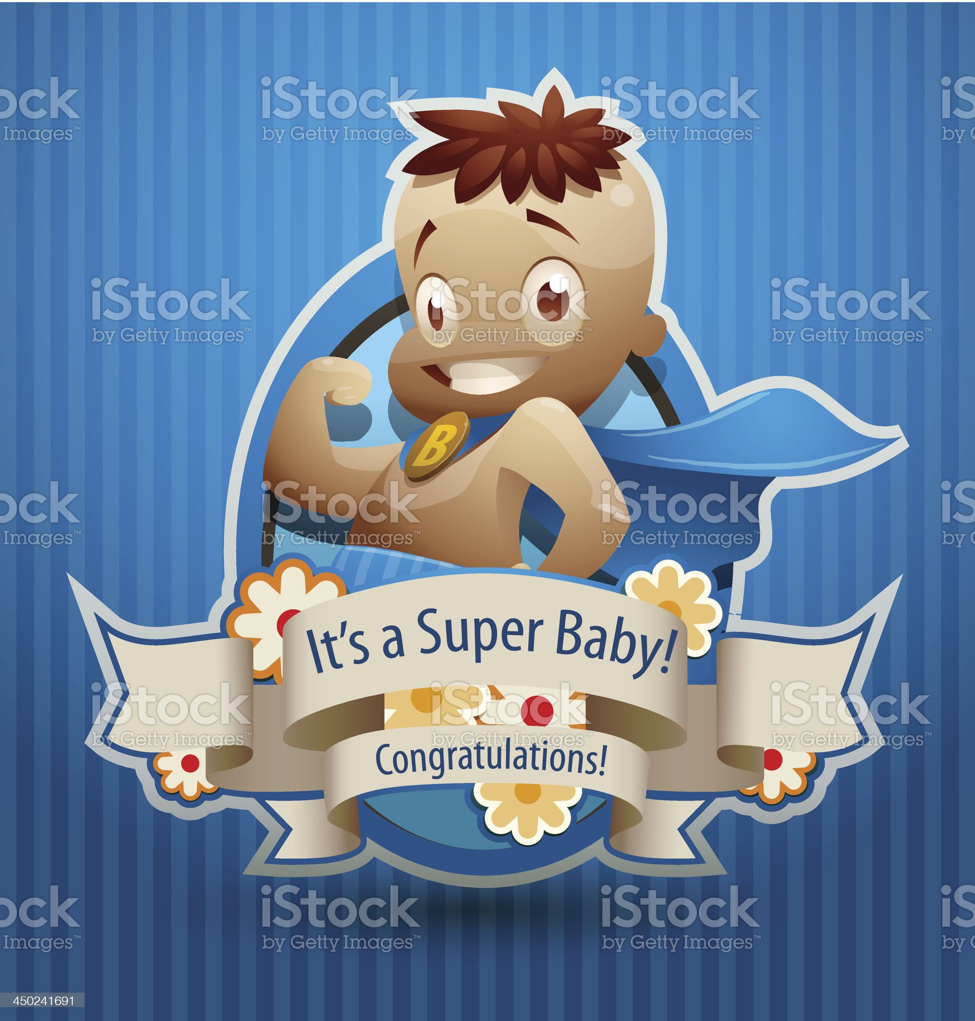 Super baby boy banner royalty-free stock vector art