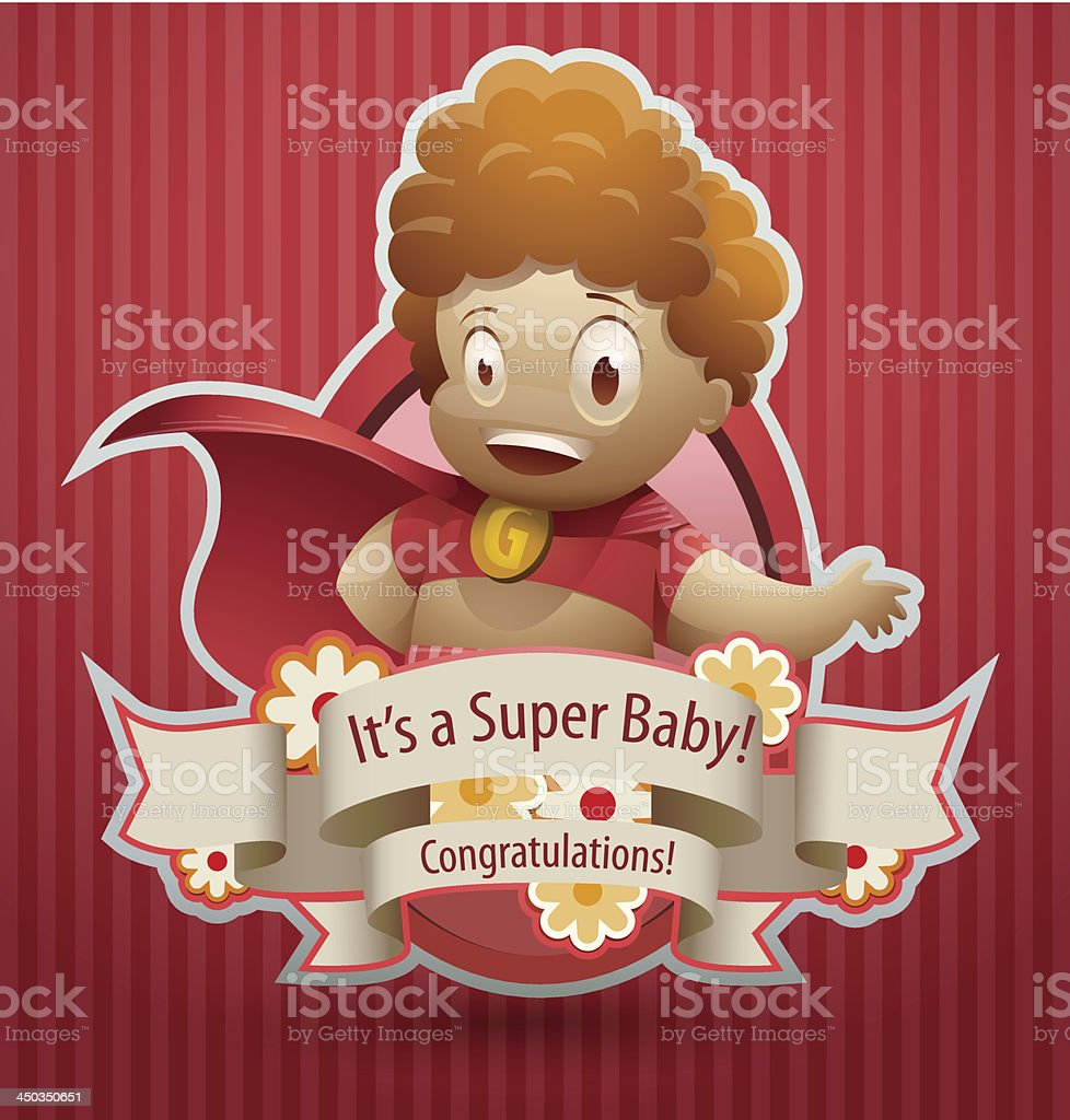 Super baby girl banner royalty-free stock vector art
