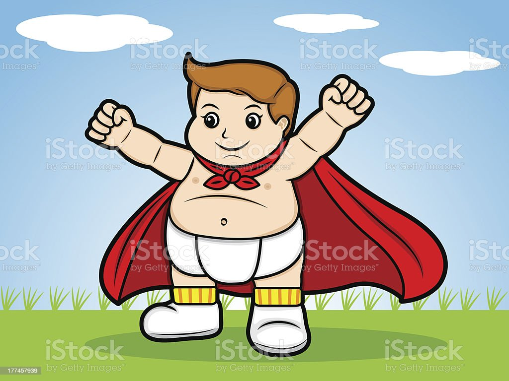 Super Baby royalty-free stock vector art