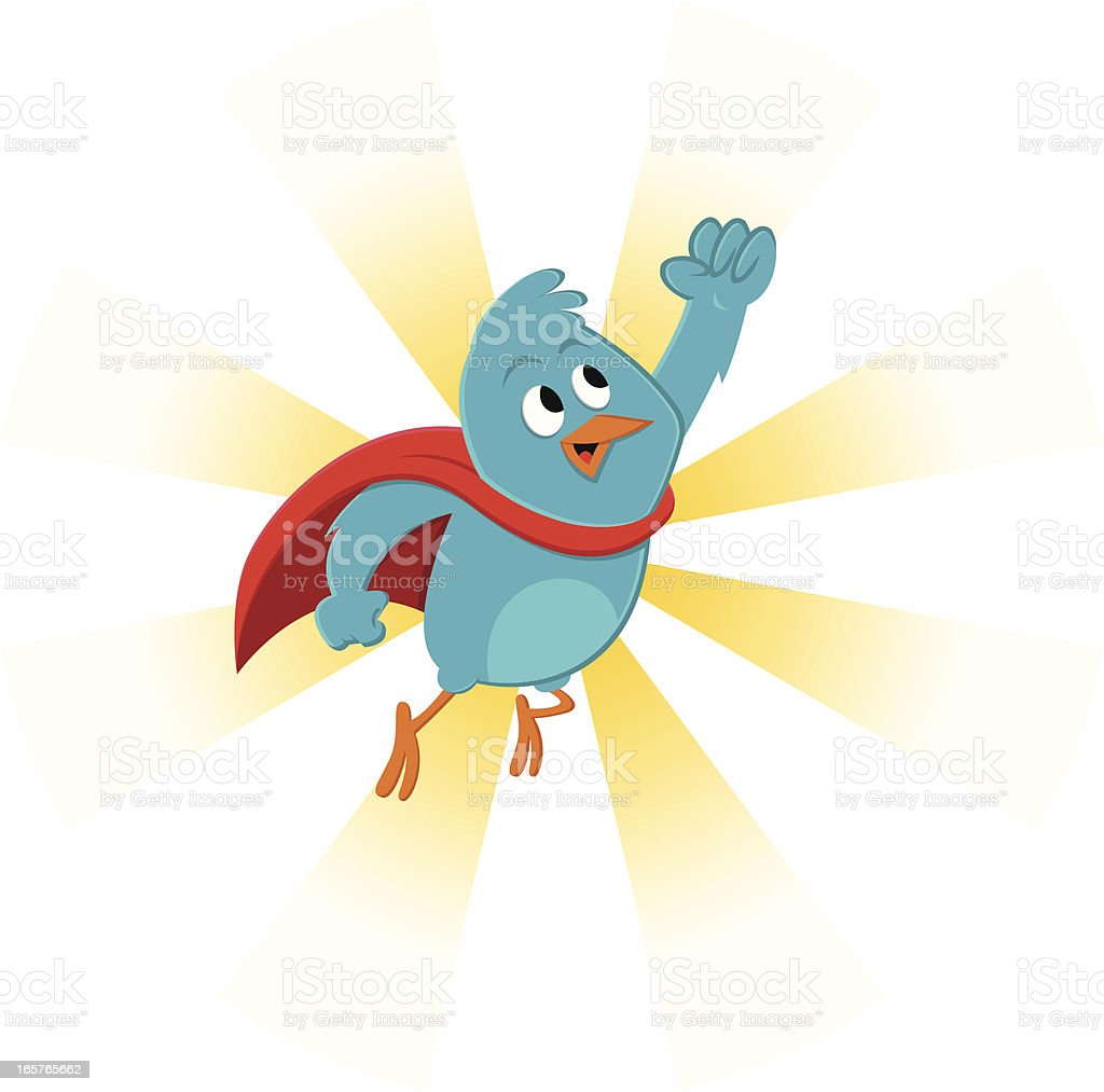 Super bluebird royalty-free stock vector art