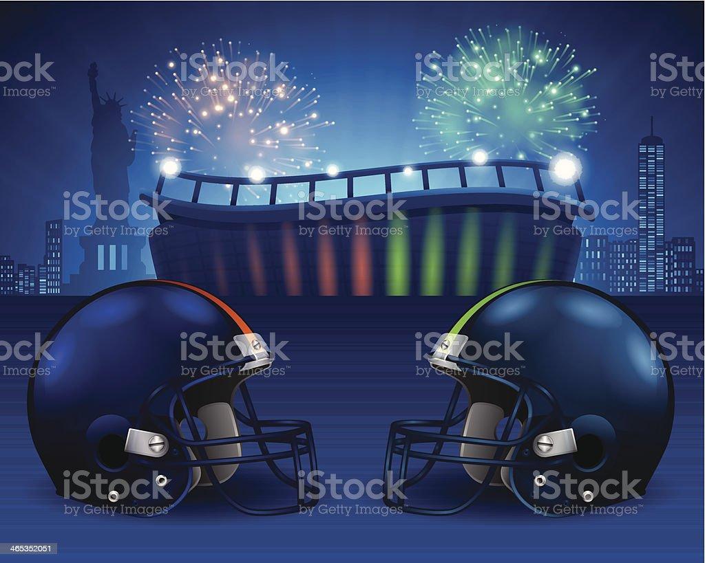 Super Bowl 48 vector art illustration