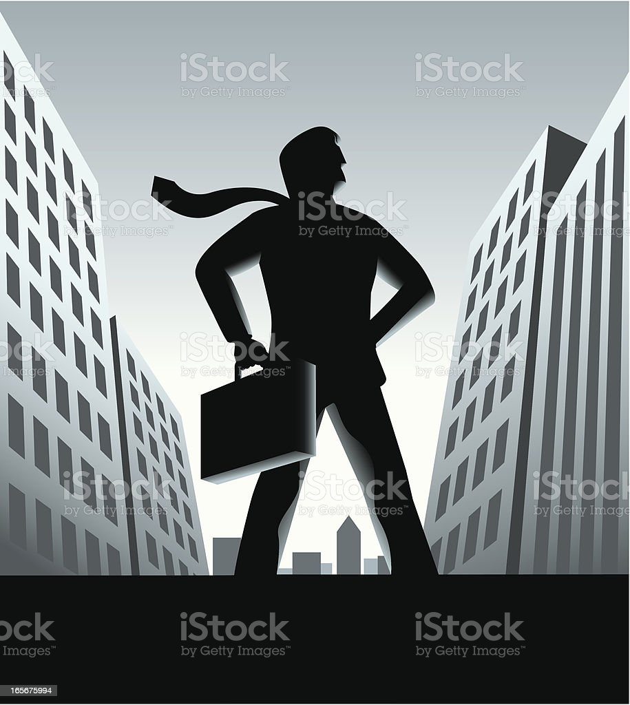 Super Businessman royalty-free stock vector art