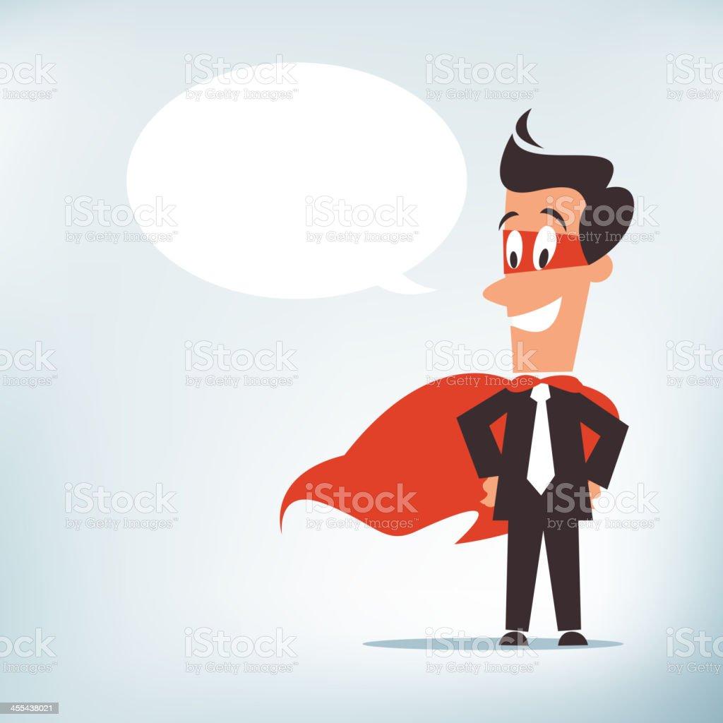 Super Businessman royalty-free stock vector art