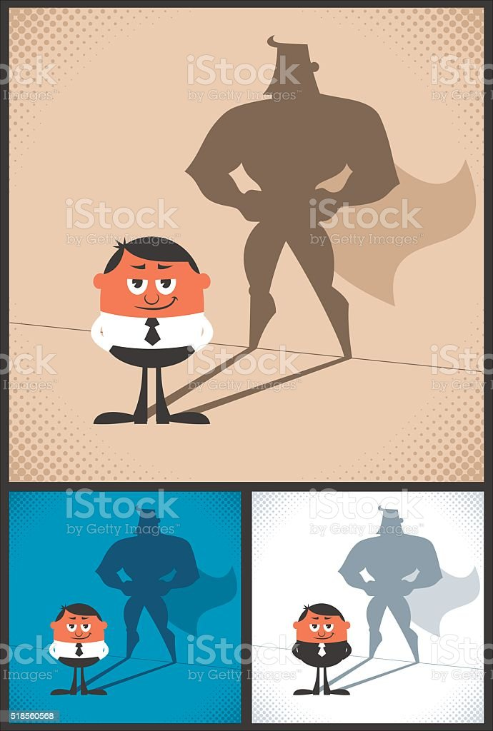Super Businessman vector art illustration