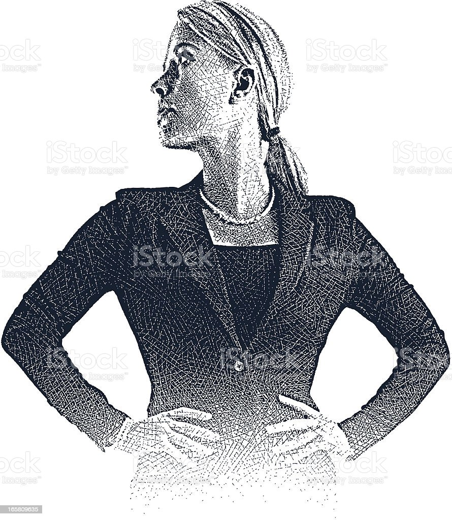 Super Businesswoman royalty-free stock vector art