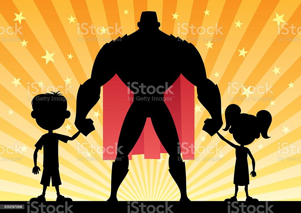 Super Dad vector art illustration