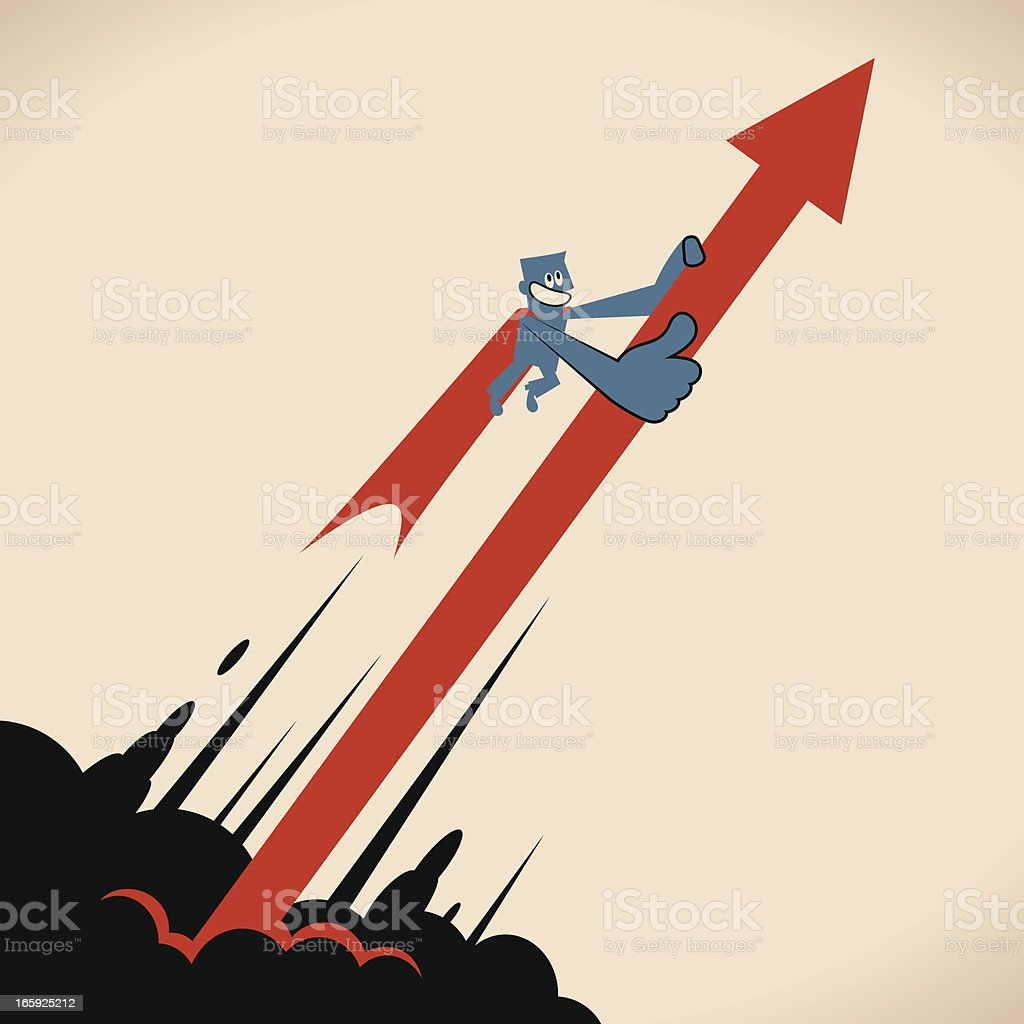 Super Growth Concept vector art illustration