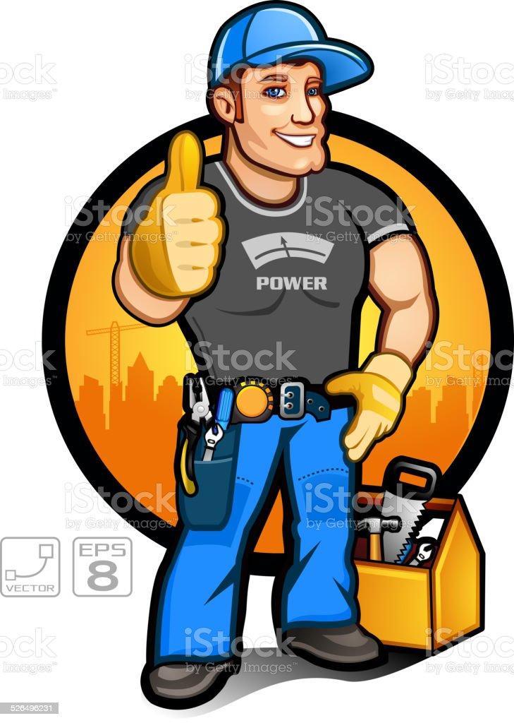 Super Handyman vector art illustration