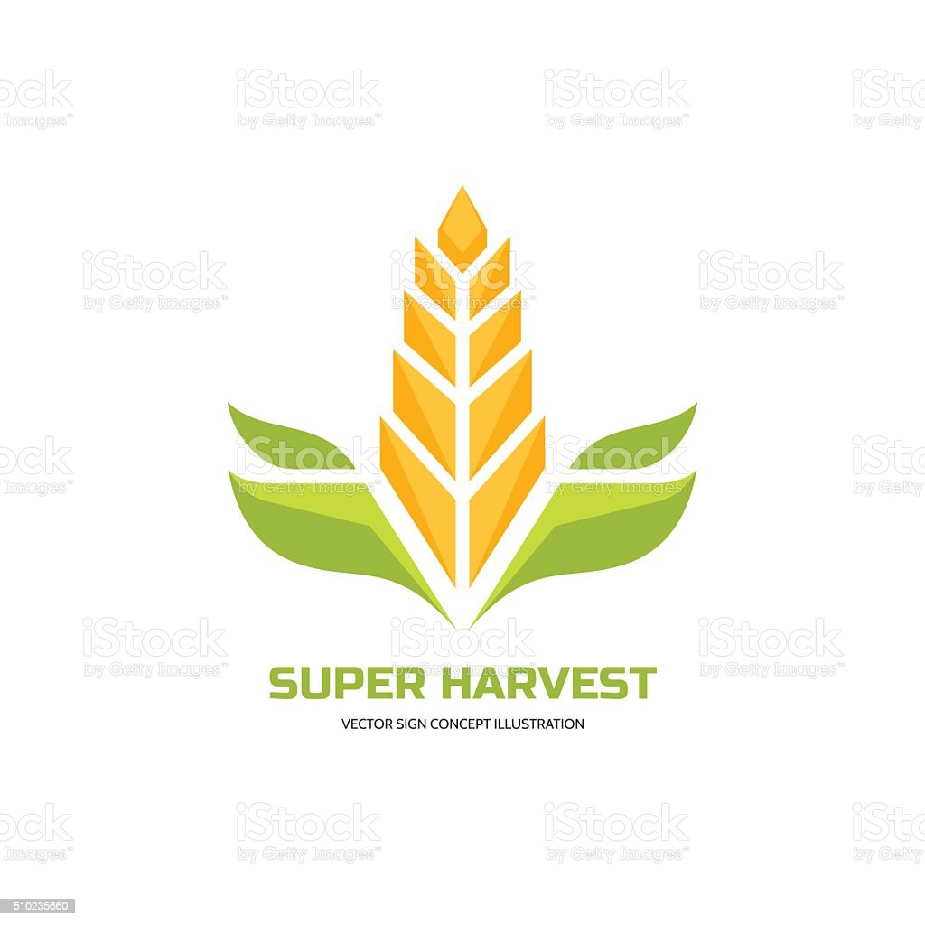 Super harvest - vector sign concept illustration vector art illustration